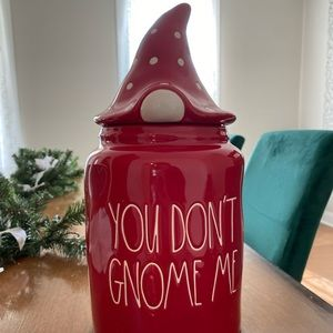 Rae Dunn YOU DONT GNOME ME Figural Canister
